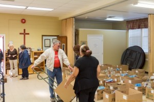 Thanksgiving Baskets Project at St Matthias Episcopal Church in Clermont Florida