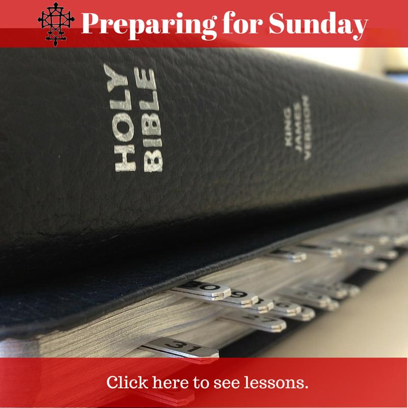 Preparing for Sunday