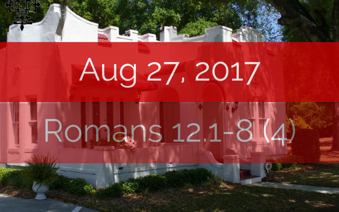 Sermons – Aug 2017
